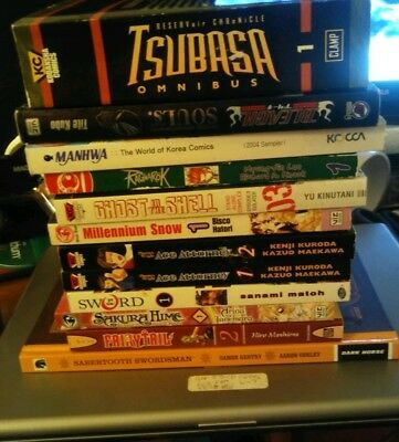 Manga Book Lot of 12, English language, FREE SHIPPING