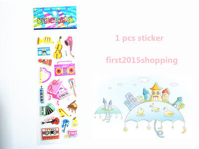 Piano Sticker 1pc Puffy Music Cartoon Stickers Lot Craft Kid Party Toy A1