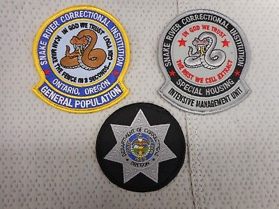 3 different Oregon Dept of Corrections patches - Buy It Now w/free postage