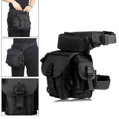 Military Tactical Drop Leg Bag Pack Pouch Waist Belt Men Motorcycle Waterproof