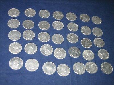 Shell Gas Station Vintage Aluminum President Tokens Coins Lot Of 35