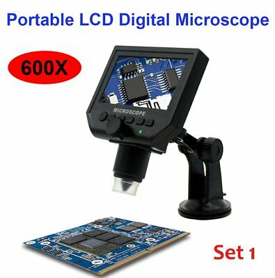 Microscopio digitale LCD portatile con display OLED 4,3'' HD 3.6MP CCD 600X HD