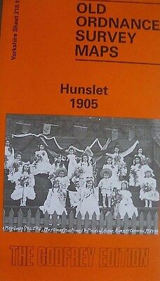 Old Ordnance Survey Detailed Maps Hunslet Yorkshire 1905 Godfrey Edition New