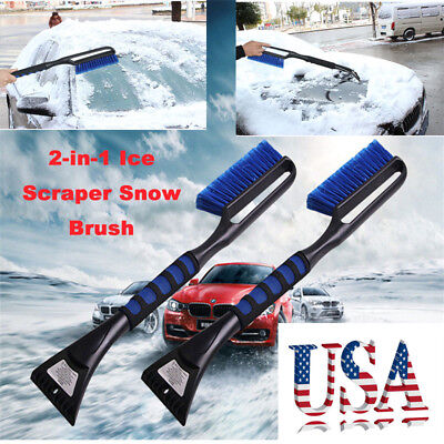 Ice Scraper with Brush Car Windshield Snow Removal Frost Telescoping Broom 6L