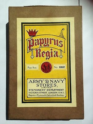 Vintage Army Navy Stores Papyrus Regia Stationery Box London Prop Man Cave
