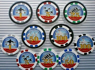 Us Air Force Thunderbirds Poker/casino Chips Choose 2 Chips Or 1 Card Protector