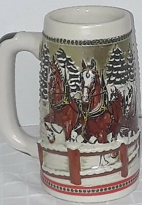 Anheuser Busch  Budweiser Beer Stein Clydesdales AB Bud Holiday Christmas