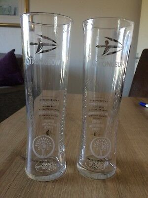 PAIR STRONGBOW HEREFORDSHIRE CIDER PINT GLASSES 430 GM NEW UNUSED 100/% GENUINE