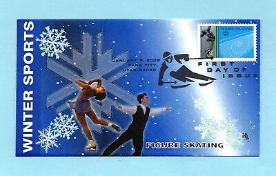 U.s. Fdc #3555 Hobby Link Cachet - Figure Skating From The Winter Olympics Set