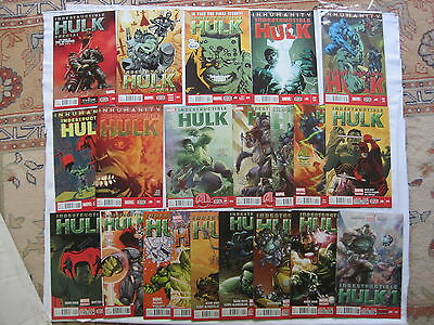 The Indestructible HULK : complete run issues 1-20 + Ann 1,Special 1.MARVEL.2013