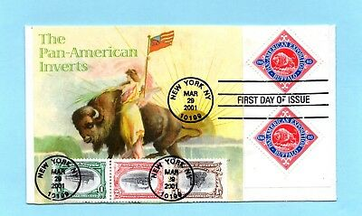 U.s. Fdc #3505 The Complete Set Of Pan-American Inverts Reproductions