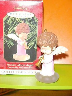 Vintage Christmas Ornament Hallmark MARY'S ANGELS Pink Heather #12 w Box!