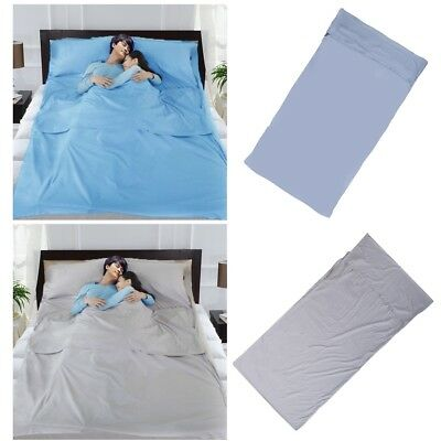 d5e1cdd040f Outdoor Sleeping Bag Liner Cotton Camping and Travel Sheet with Compression  Sack