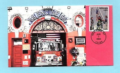 U.s. Fdc #b2 H&m Cachet - Honoring The Heroes Of 9/11