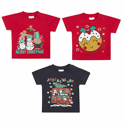 Babytown Short Sleeve Cotton Printed Christmas Novelty T-shirt