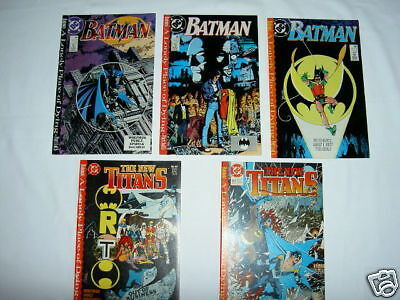 """BATMAN / TEEN TITANS :""""A LONELY PLACE OF DYING"""", complete 5 issue story arc.1989"""