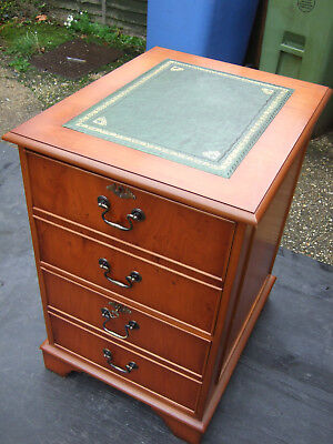 Yew wood filing cabinet/chest