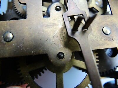 ANTIQUE German Wall Clock MOVEMENT FMS JUNGHANS Gustav Becker GB PARTS Restore
