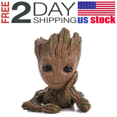"""Guardians of The Galaxy Vol. 2 Baby Groot 7"""" Figure Flowerpot Style Toy Gift USA"""