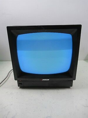 Javelin BWM 12A Monochrome Black and White TV Video Monitor Vintage CRT