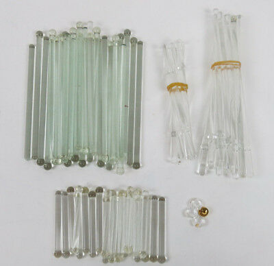Swizzle Sticks Vintage Glass Bar 60pc lot Cocktails Tom Collins Barware