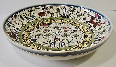 """Williams Sonoma Portugal Nazari 14"""" Large Hand Painted Serving Bowl Centerpiece"""