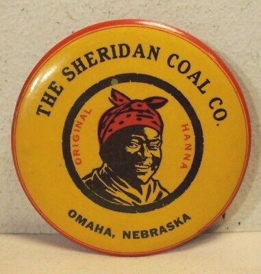 1930's~THE SHERIDAN COAL CO.~BLACK AMERICANA~CELLULOID POCKET MIRROR ADVERTISING