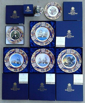 Royal Worcester Lord Nelson Collection - Selection Of Collector Plates Etc