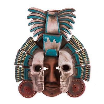 Mexican Archaeology Mask 'Life and Death in Teotihuacan' Handmade Ceramic NOVICA