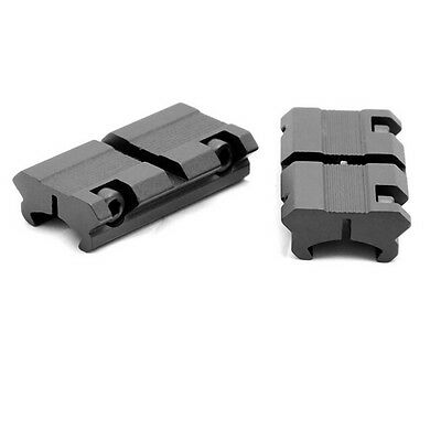 """LS2 2pcs Picatinny/W 3/8"""" 11mm Dovetail to 7/8"""" 20mm Weaver Rail Scope Mount TOW"""