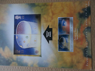 Royal Mail A4 Post Office Poster 1991 Europe In Space
