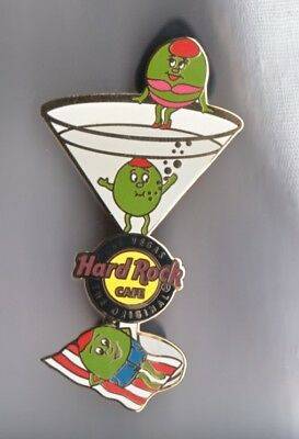 Hard Rock Cafe Pin: Las Vegas the Original Martini partying Olives le300