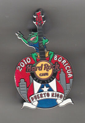 Hard Rock Cafe Pin: New York 2010 Boricua Puerto Rico Guitar le300