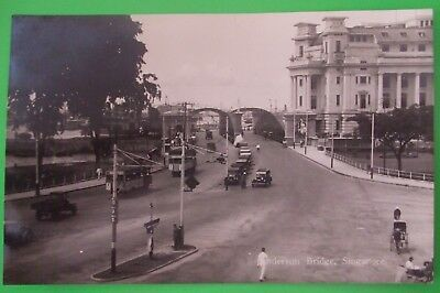RP Postcard c.1925 ANDERSON BRIDGE SINGAPORE MALAYA