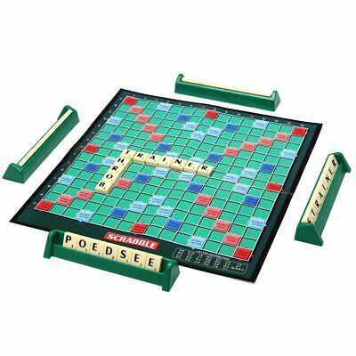 Scrabble Board Game Family Kids Adult Educational Toys Puzzle Game ZX
