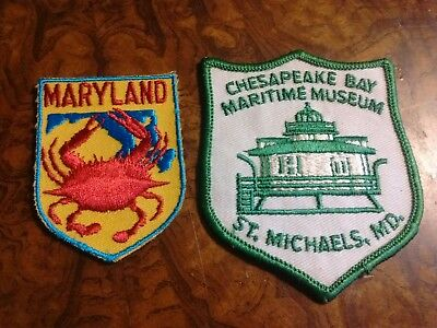 MARYLAND CHESAPEAKE BAY MARITIME MEUSEUM  Embroidered Souvenir Patches