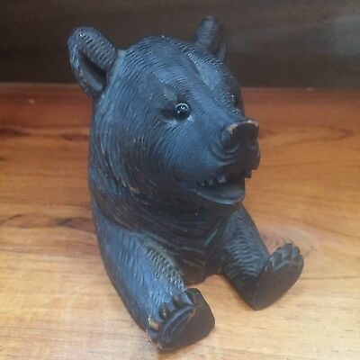 Antique German Black Forest Bear Inkwell c1910