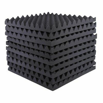 1-6Pcs Acoustic Wedge Studio Absorption Soundproofing Foam Wall Tiles Sponge ZX