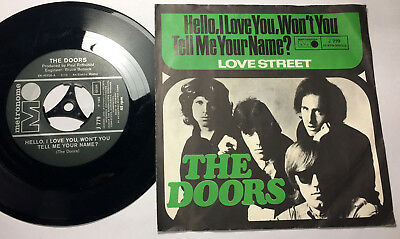 The Doors#hello,i Love You, Won't You Tell Me,your#metronome J 779#germany 1968
