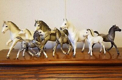 Lot of 8 vintage Breyer Running & Proud Arabian mare & foal