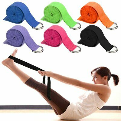 Yoga Belts New Yoga Stretch Strap D-ring Sport Belt Waist Leg Fitness Sport180cm Adjustable Gym Shaping Tool Yoga Belts