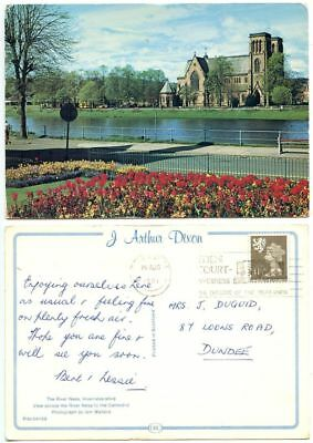 Great Britain 1981 Postcard River Ness Inverness-shire, Scott SMH16 Machin