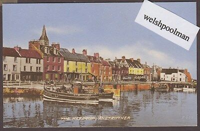 Vintage1950/60's Fishing Boats In The Harbour Anstruther Fife Scotland Postcard