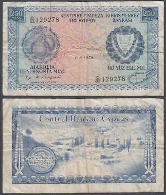 1979 Central Bank of Cyprus 250 Mils