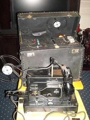 Vintage rare Bauer Pantalux 16 professional move projector  1930's with extras
