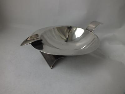 Art Deco Solid Sterling Silver Ash Tray 1938/ L 14.5 cm/ 98 g