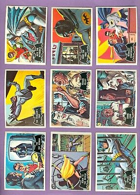 Lot of 19 Different 1966 Topps BATMAN (Black) Cards, Excellent
