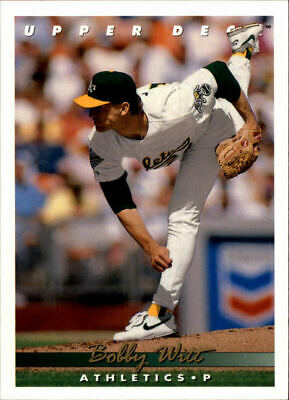 1993 Upper Deck Oakland Athletics Baseball Card 87 Bobby Witt