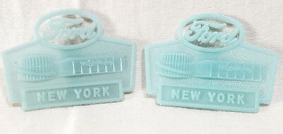 1964 New York Worlds Fair Ford Glow In The Dark Clip Badge Souvenir Lot Rare Vgc