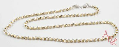 Charles Garnier Sterling Silver 925 Ball Dot Linked Necklace 18'' (10.2g) 743523